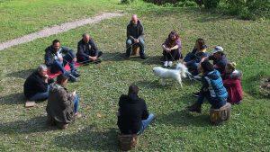 Une journée de business coaching en équipe en plein air avec l'entreprise GIZMO dirigée par Stéphane Saidani, basée à Strasbourg et Mulhouse, Alsace, pour travailler la cohésion et développer l'esprit d'équipe avec JADE AIR, notre formule innovante de coaching d'équipe outdoor.