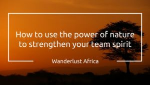Outdoor Business Coaching or how to use the power of African Nature in Business Coaching with Alexandra Katzer and D'un Pas Décidez