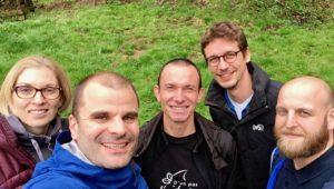 L'équipe de direction de l'entreprise DEYA en Alsace, témoignage de son expérience d'Outdoor Business Coaching avec D'un Pas Décidez