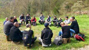 Outdoor BusinessC Team oaching ou coaching nature avec une équipe de l'entreprise HAGER.