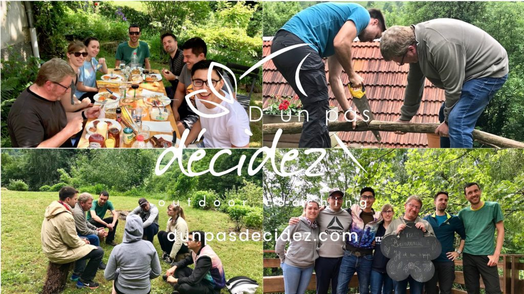 Outdoor Business Coaching du comité de direction de l'agence TIZ en Alsace.