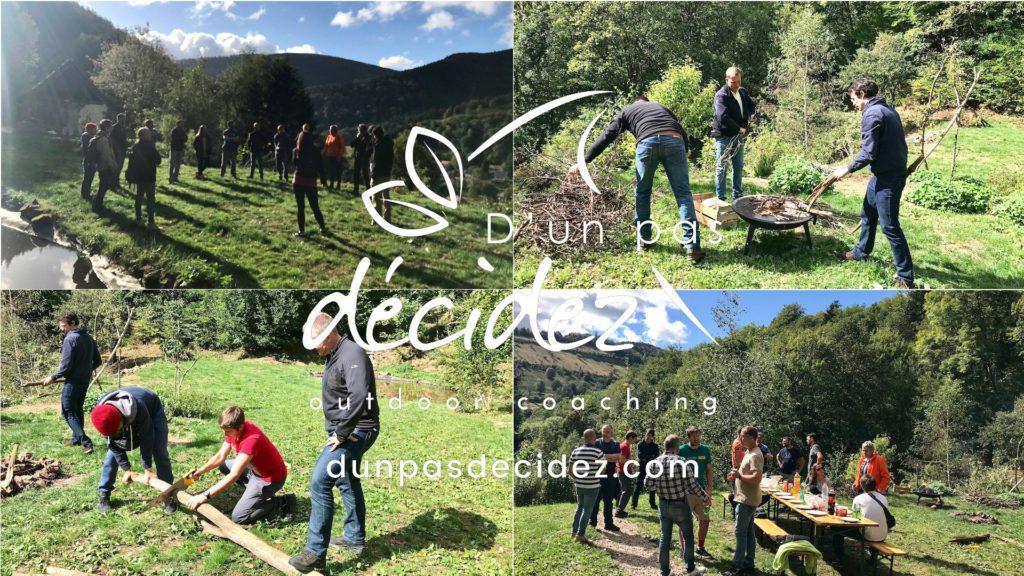 Outdoor Business Coaching avec Réseau Entreprendre Alsace dans le cadre du lancement du Club 13 des Lauréats.