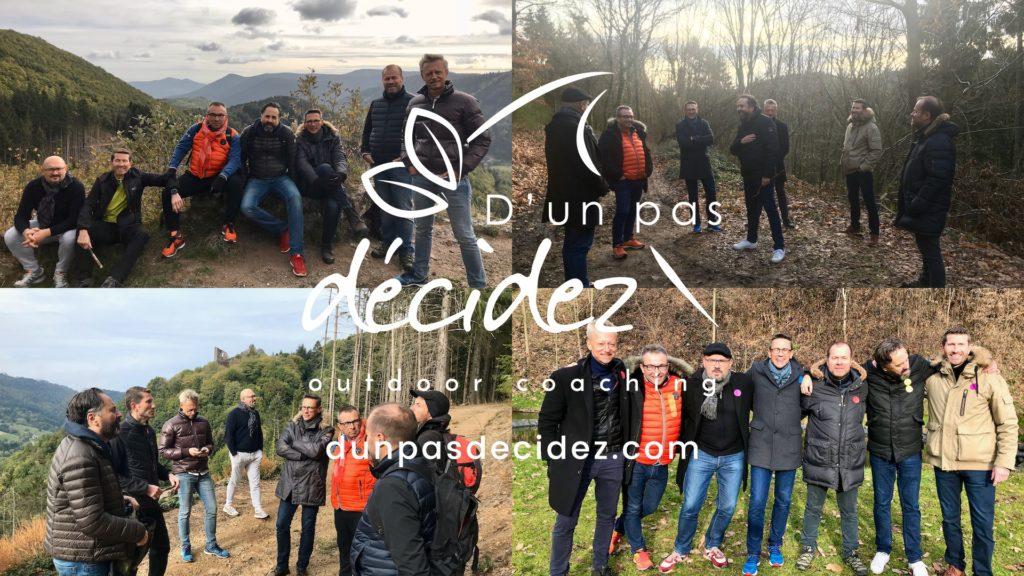 Les Responsables Commerciaux Régionaux de l'entreprise HAGER en Alsace bénéficient d'un accompagnement outdoor business coaching avec D'un pas Décidez