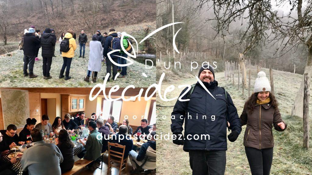 L'outdoor business coaching avec D'un pas Décidez permet d'accompagner efficacement les entreprises en Alsace comme CHARGE MAP !
